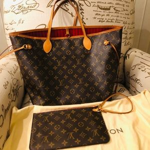 Louis Vuitton Neverfull MM Monogram Cerise